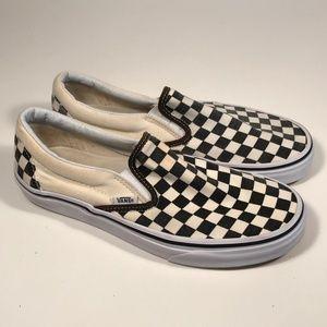 Vans Checkerboard Slip on Sneakers Women 9.5